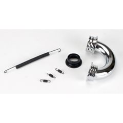 DYNP5090: 1/8 Round Exhaust Header: Polished